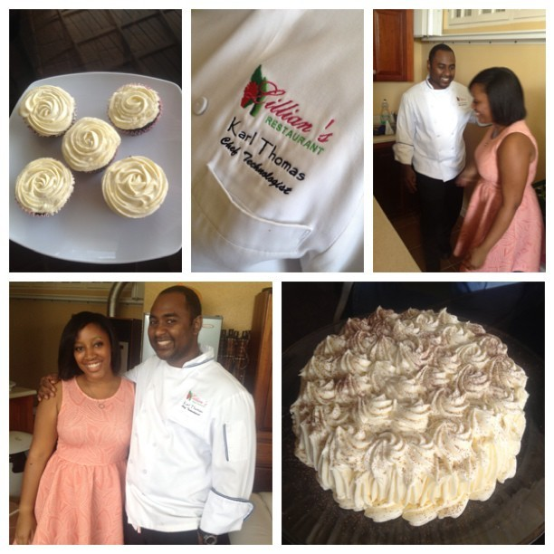 TEEN Chef interview for the Jamaica Observer Newspaper + amazing baking lessons from Chef Karl Thomas! It's so exciting to learn from a professional with 15 years experience! I baked, then we decorated a cake and cupcakes with different types of rose designs. He also left me with some amazing chef goodies!! #Jamaica #Observer #TEEN #Chef #TEENChef #pastry #ChefKarlThomas #cupcakes #cake #gladbagbuss  #cantwaitforpastryschool #muzy