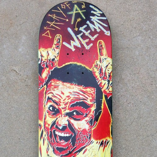Monster - Wee-Man art by @kidadams #deckoftheday @iamweeman HMCSK8.TUMBLR.COM