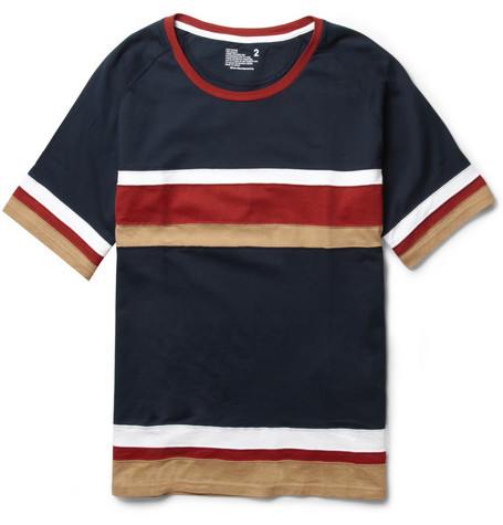 capcorpus:  White Mountaineering - Striped Cotton-Jersey T-Shirt.