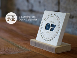 matvel:  TYPE – A LETTERPRESS DESK CALENDAR  The calendars are printed on a 55pt heavy cotton stock. Each card goes through the press twice, once for each color (black and gray). The stock is then cut down to size with a die cutting machine. This gives them their rounded corners. It's a very long and tedious process, that's why letterpress printing isn't cheap by any means. Source: wantcy.coom