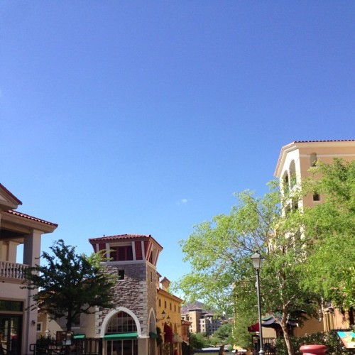 Blue skies in Lake Las Vegas #summer #Vegas