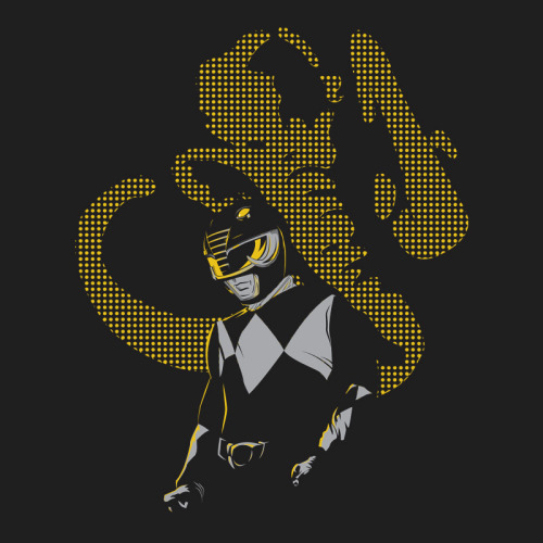 "gamefreaksnz:  ""The Black Ranger Rises"" by Moysche. Available at Redbubble. Follow Moysche at: Facebook ** Society6 ** DeviantArt"