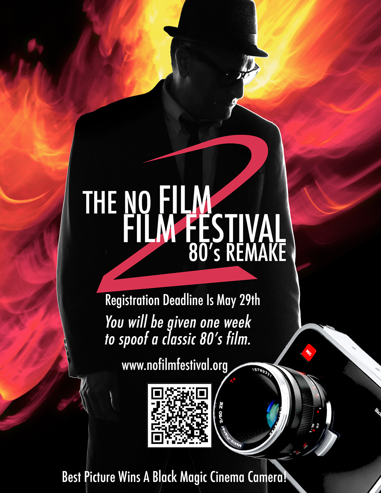 The No Film Film Festival 2: 80's Remake. Registration Deadline May 29, 2013