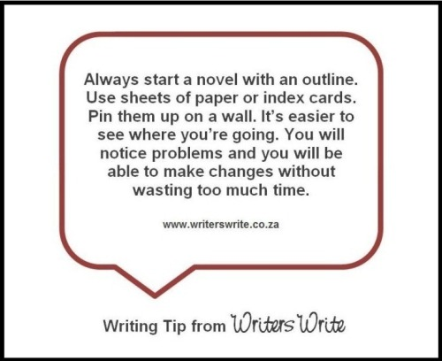 amandaonwriting:  Excellent advice for anyone who wants to write a novel. Always have a plan.