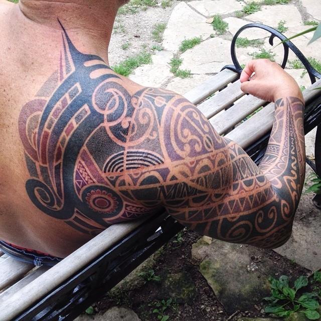 The near finished piece! #tattoo #dots #dotwork #daemon #nature #soulprint #sleeve #urbanprimitive #artoftransformation