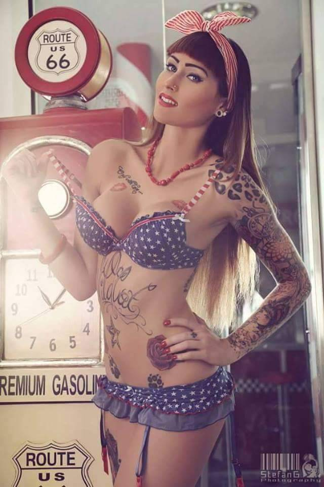 "Hotchickswithtattoos - Care to ""fill her up""?"