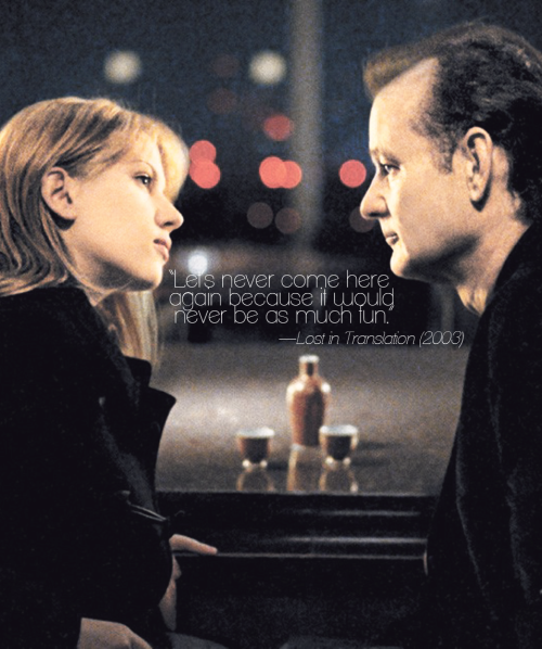 a little collection of my all-time favourite films — Lost in Translation (2003)