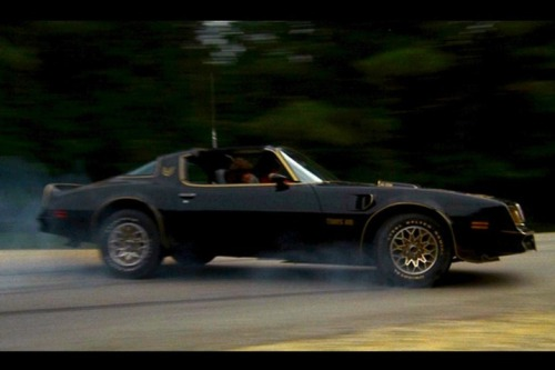 musclecardreaming:  Burt Reynold's 77 Pontiac Trans Am from Smokey and the Bandit movies.  He only had a '77 in the first. In Smokey & The Bandit 2 he had an '81 Turbo Trans Am. And it was a third-gen in #3, but Burt Reynolds was not in it