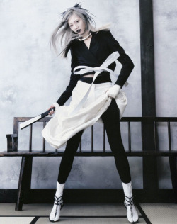 stormtrooperfashion:  Soo Joo by Hyea-Won Kang for Vogue Korea, June 2013