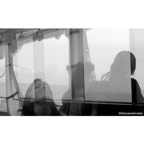 happiness ↑↑☆★ #people #blackandwhite #reflection #double #exposure #portrait