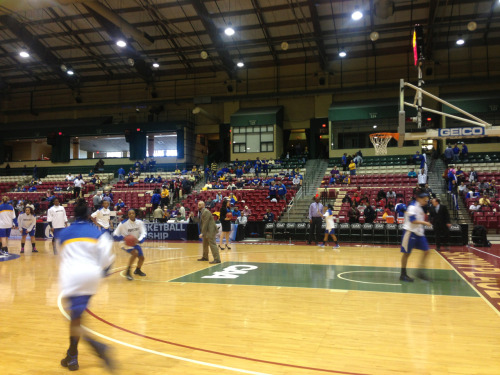 We are in Upper Marlboro, Maryland getting ready to cover Hofstra women's basketball as they get ready to take on Northeastern in the CAA Tournament.
