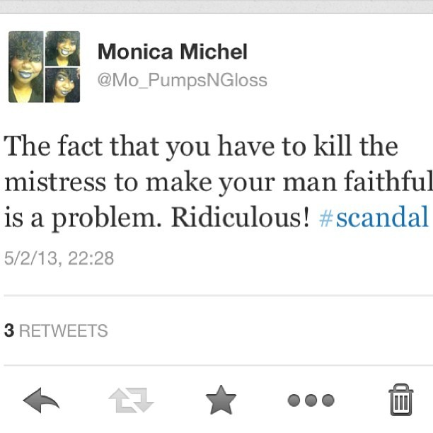 Ladies take note! #scandal #abcscandal