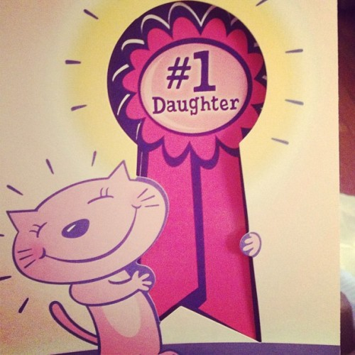 It's official, #number1daughter