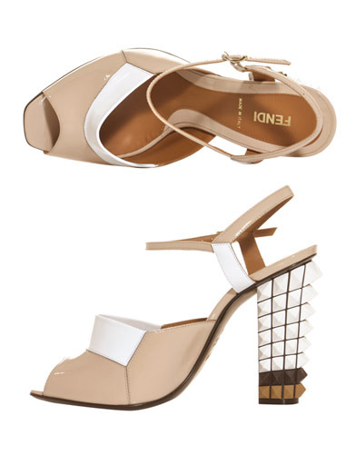 Want.  Polifonia studded heels.  FENDI.