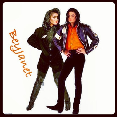 Credited to @beyjanet I love this pic dahling . Wifey number 1 and my idol MJ #missjackson #janetjackson #damitajo #mjfam #kingofpop #michaeljackson