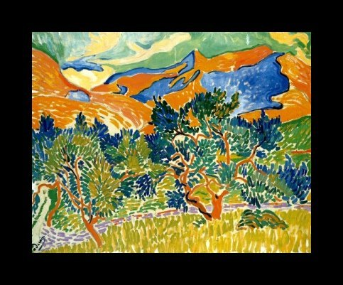 Mountains at Collioure, 1905; by Andre Derain
