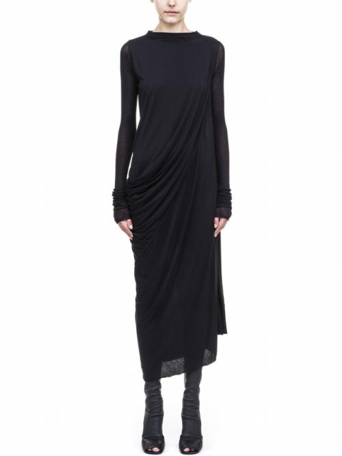 rick owens urbanwear urban goth gothic grunge minimalistic minimalism black dress