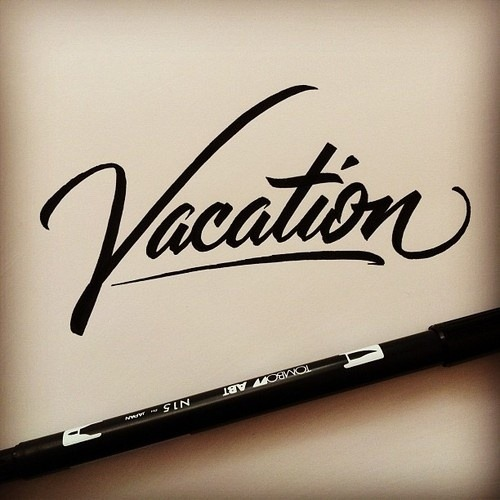 type-lover:  #lettering #handlettering #script #vacation (Taken with Instagram)