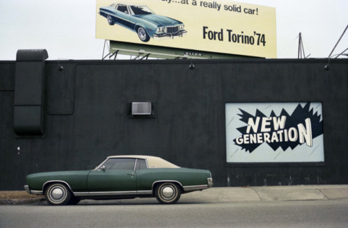 sunsetgun: Ford Torino. William Eggleston.