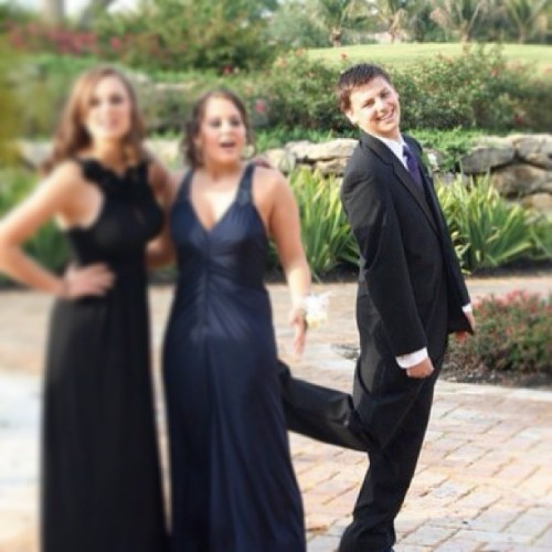 Prom throwback. I'm a classy bitch. #tbt #photobomb #prom