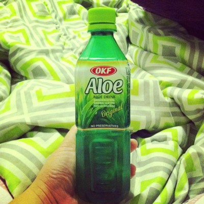 Yummm! #aloe #drink #green