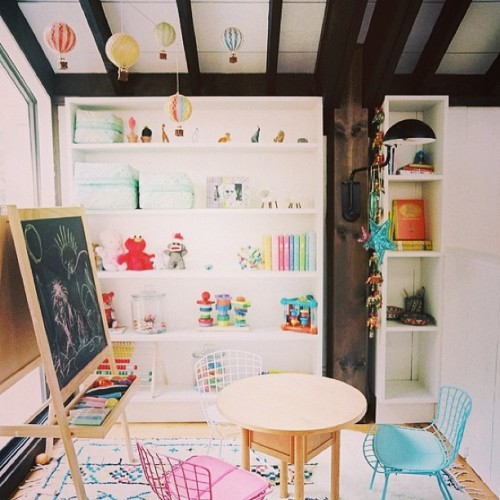 ministyle-australia:  Pretty kids playroom. Hot Air Balloons available at www.ministyle.com.au #ministyleaustralia #decor #hotairballoon #kidsroom