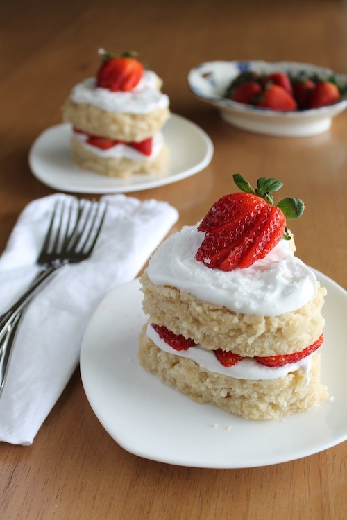 "Happy Valentine's Day from Vegan Yumminess' lemon strawberry sweetheart cakes! Per Lindsay, this is ""a spin-off of the recipe that [she and her husband] used to make [their] own wedding cake."" Does that mean that its psychically linked to a happy marriage, and if you feed it to someone, they'll totally fall in love with you and propose marriage before the last bite? Probably not, that is insane? But it will most likely engender some especially mushy feelings in whomever it is you serve it to. Even if (especially if?) that person is yourself/your best pals. Anyone you love enough to make cake for is lucky indeed."