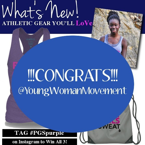 GIVEAWAY WINNER: Better LATE than NEVER! Congrats to @YoungWomanMovement for scoring our #PGSpurple gift pack! To retrieve your prize, please email your first name, last name, street address, city, state, and zip code to pgs@teendiaries.net so we can set up shipping. We can't wait to see you rocking your new gear! #Giveaway #GiveawayWinner #Winner #PGSpurple #prettygirlssweat #pgs