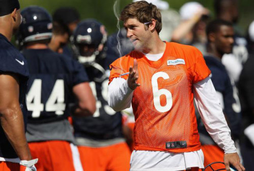 It's game day!  Smokin' Jay Cutler and the Bears head to Glendale to take on the Arizona Cardinals.  Good luck Smokin' Jay! Fan submission (courtesy of kuthwash)