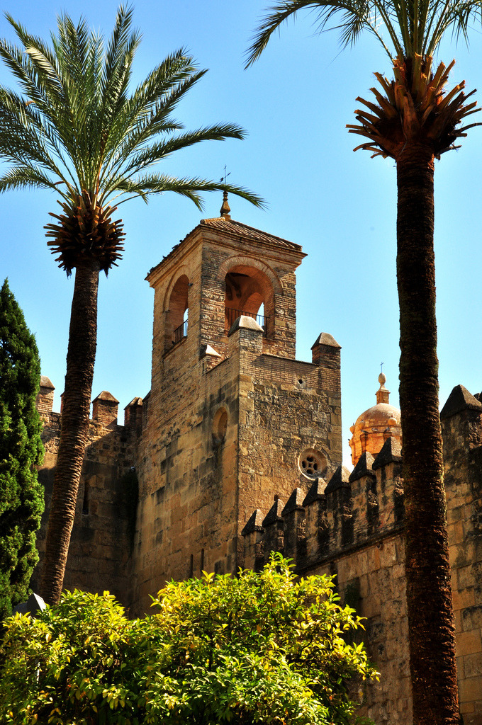 allthingseurope:  Alcázar of Cordoba, Spain (by -Kaesar-)  The Alcázar de los Reyes Cristianos or Alcázar of the Christian Monarchs was a military building built during the reign of King Alfonso IX of Castile, over what had been a Moorish Alcázar and a Visigoth Fortress in the previous centuries. Isabel I of Castile and Fernando II of Aragón, the Catholic Monarchs, lived 8 years in the Alcázar, where one of their daughters, the Infanta María, future Queen of Portugal was born. In 1486, Christopher Columbus presented his plans to reach the East Indies by sailing westward to Queen Isabel I in the Alcázar.