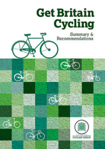 The all-party report into getting more of us on bikes has been published today (more info here and here).  There's a Government e-petition to ask the PM to implement the report's recommendations.  Sign up now!