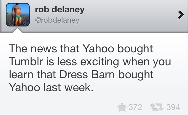 robdelaney:  https://twitter.com/robdelaney/status/336197163556171776