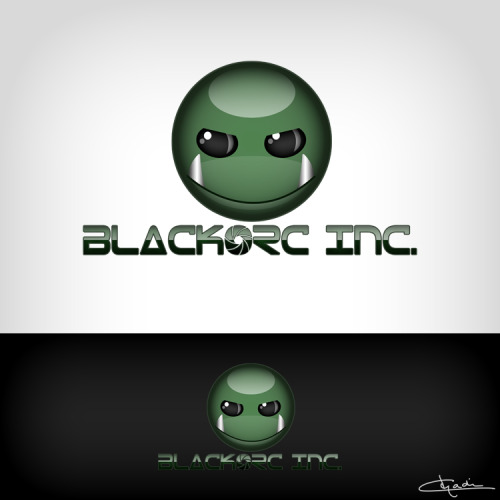 """BLACKORC INC"" - logo design for a photographer by CHADIN"