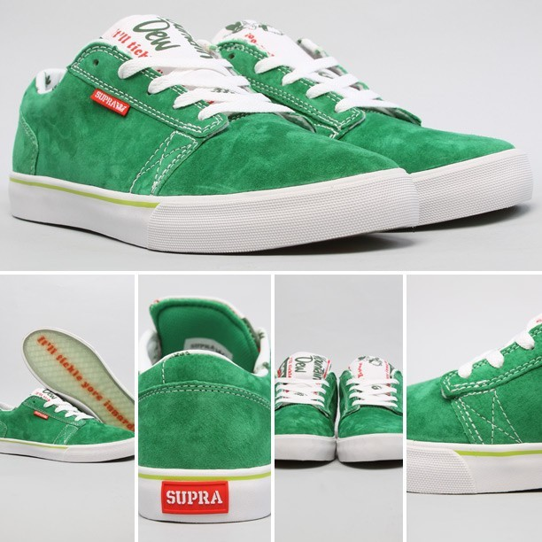 Super limited @BooJohnson1 x @SupraFootwear x @mountaindew #MtnBoo Amigos dropped today on @BrickHarbor