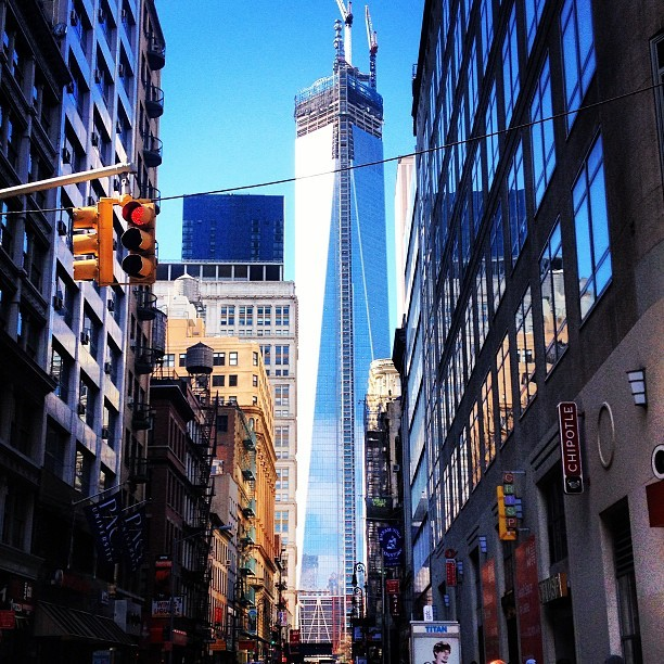 One World Trade- almost complete, March 2013
