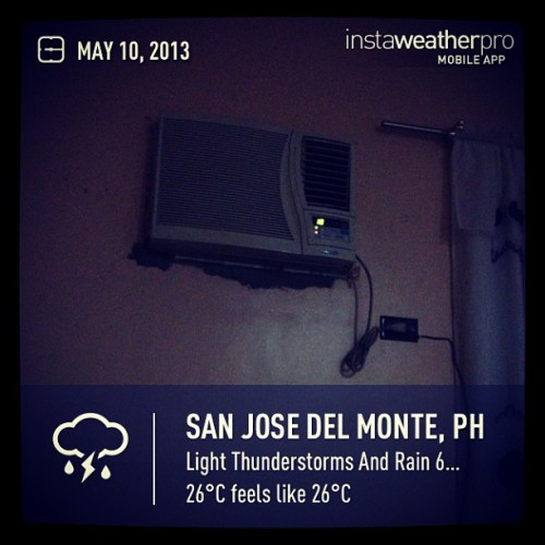 Woopeee #instaweather  #indoors #aircon #sanjosedelmonte #night #goodnight