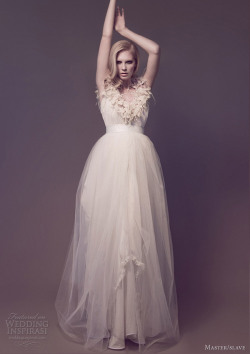 awesomeweddingdresses:  http://www.weddinginspirasi.com/2012/12/27/master-slave-wedding-dresses-flora-galaxies-bridal-collection/