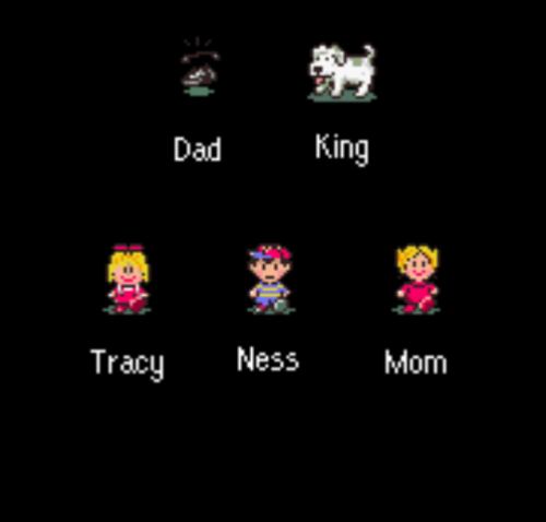 smithylou:  I beat Earthbound. In other news, the dad actually is a phone.  Why am I thinking Phone Box?