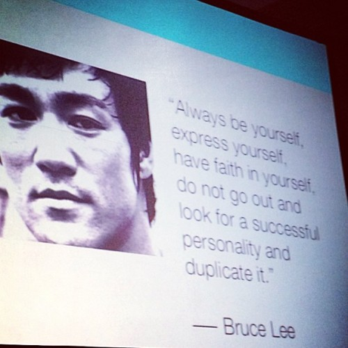 Awesome Bruce Lee quote #WISE2013 (at The Oncenter Convention Center)