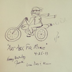 Dad always sends me a fun little sketch for my birthday!