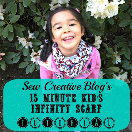 sheissewcreative:  Sew Creative's 15 Minute Kid's Infinity Scarf Sewing Tutorial  What would you do if I told you that you could make an adorable kid's infinity scarf, like the one…  View Post