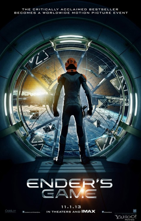 It's the first official poster for Ender's Game Let the Orson Scott Card shit talking commence.