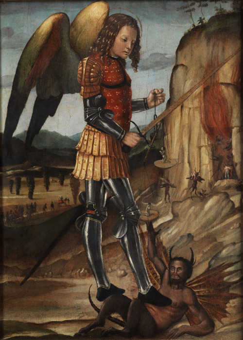 San Michele Arcangelo (Saint Michael the Archangel) by Riccardo Quartararo; image from Hampel Auctions; 1506