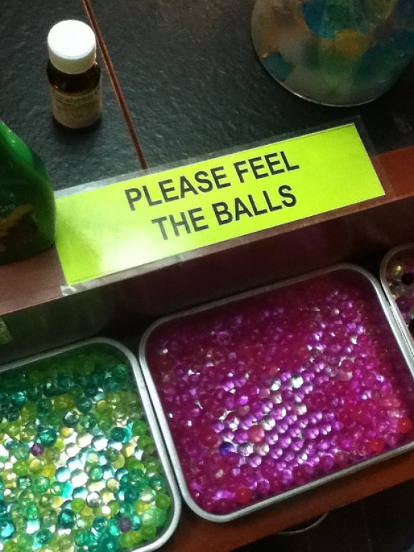 collegehumor:  Please Feel the Balls But whatever you do, don't squeeze.
