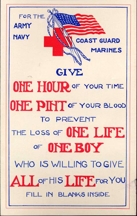 City of Boston Blood Drive pamphlet, 1944, Law Department Records, Collection 700.007  This work is free of known copyright restrictions. Please attribute to City of Boston Archives