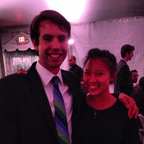 Me and @kristinejlu at Senior Dinner! #columbia #latergram  (at South Lawn Columbia University)