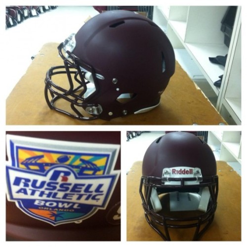 Virginia Tech to sport matte maroon helmets for Russell Athletic Bowl [Photo]