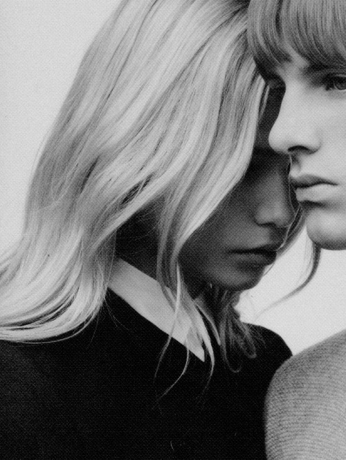 chromeus:  Natasha Poly and Yannick Mantele Ph. Willy Vanderperre