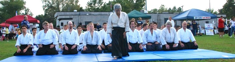 Glen Matsuda Sensei at an outdoor demonstration in New York.