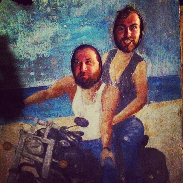 @nick_e_boy and @tommyhinga on a joy ride down in bama. (at Flora-Bama)